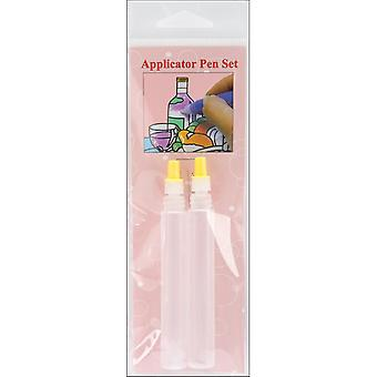 3D Crystal Lacquer Applicator Pens - Empty 2/Pkg-.6mm & .35mm W/Cleaning Pin