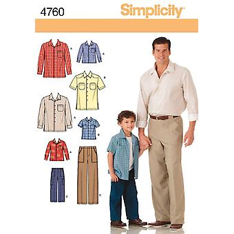 Simplicity Boys' And Men's Pants And Shi-S M L/S M L XL