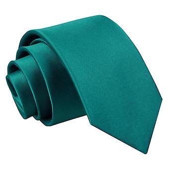 Plaine de Teal Satin régulier cravate pour les garçons
