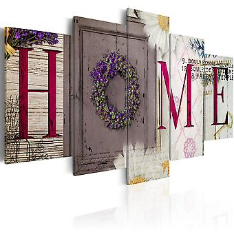 Canvas Print -  Welcome home