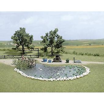 Garden pond set 1 Set Busch 1210