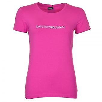 Emporio Armani Women Visibility Stretch Cotton Crew Neck T-Shirt, Pink, XS