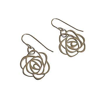 Gemshine - ladies - earrings - 925 Silver - Flower - Rose - Art Deco - 2 cm