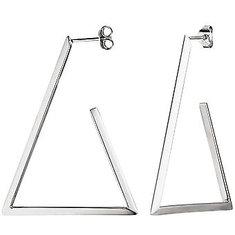 Halbcreolen triangular 925 Silver Earring hoop Silver earrings