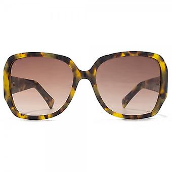 Guess Diamante G Square Sunglasses In Tortoise