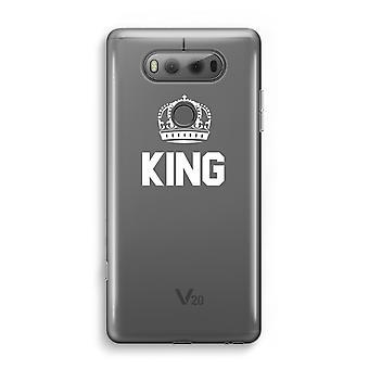 LG V20 Transparent Case - King black