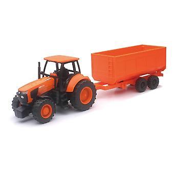 1:32 granja Kubota Tractor y remolque