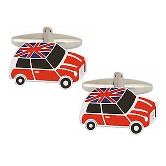Zennor Mini Union Jack Roof Cufflinks - Red
