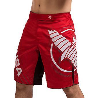 Hayabusa Chikara 4 rodilla MMA lucha cortos - rojo