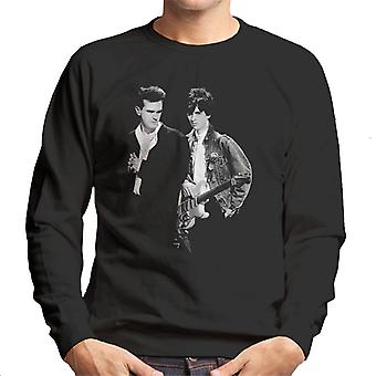 The Smiths Morrissey And Johnny Marr Together Live 1985 Men's Sweatshirt