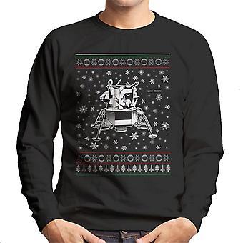 Camiseta de los hombres de punto de NASA Apolo módulo Lunar de la Navidad