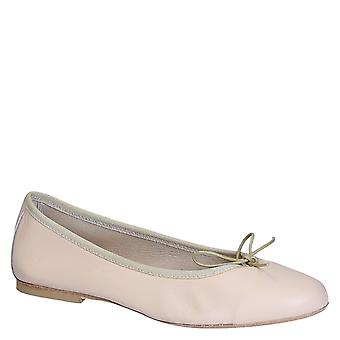 Handmade light pink soft leather ballet flats ballerina shoes