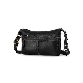 Shoulder handbag in genuine cow leather K006