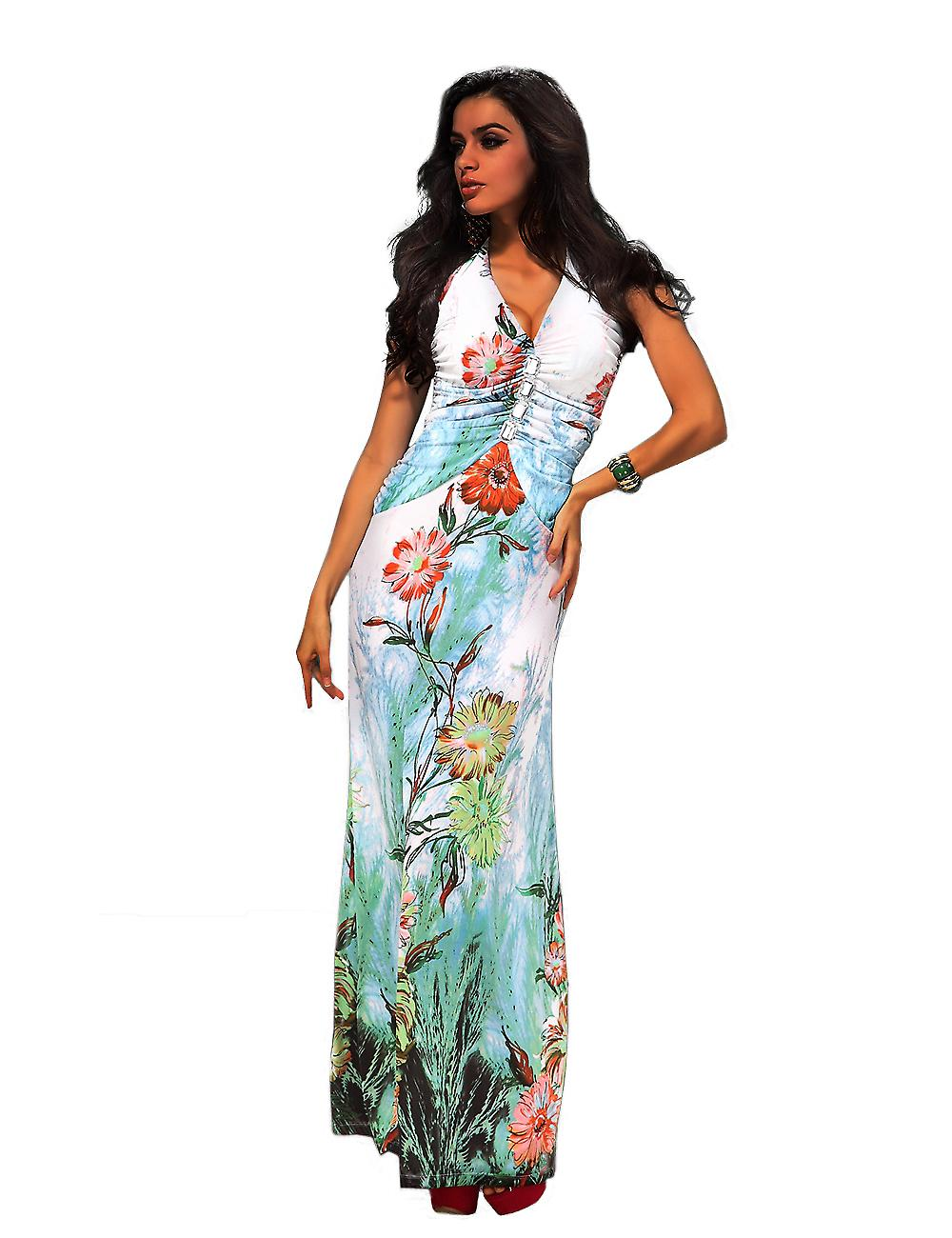 Waooh - Fashion - Dress long flower motifs