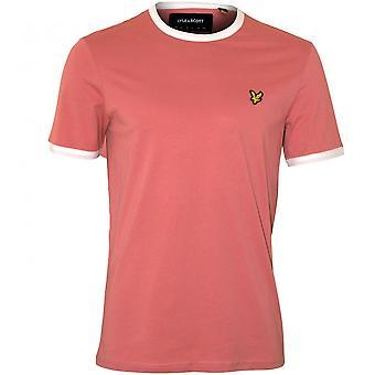 Lyle & Scott Contrast trimma Crew-Neck T-Shirt, rosa skugga