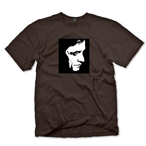 Mens T-shirt - Johnny Cash - BW - Pop Art - Face