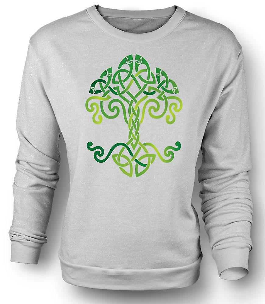 Mens Sweatshirt Celtic Tribal Tree Of Life Symbol
