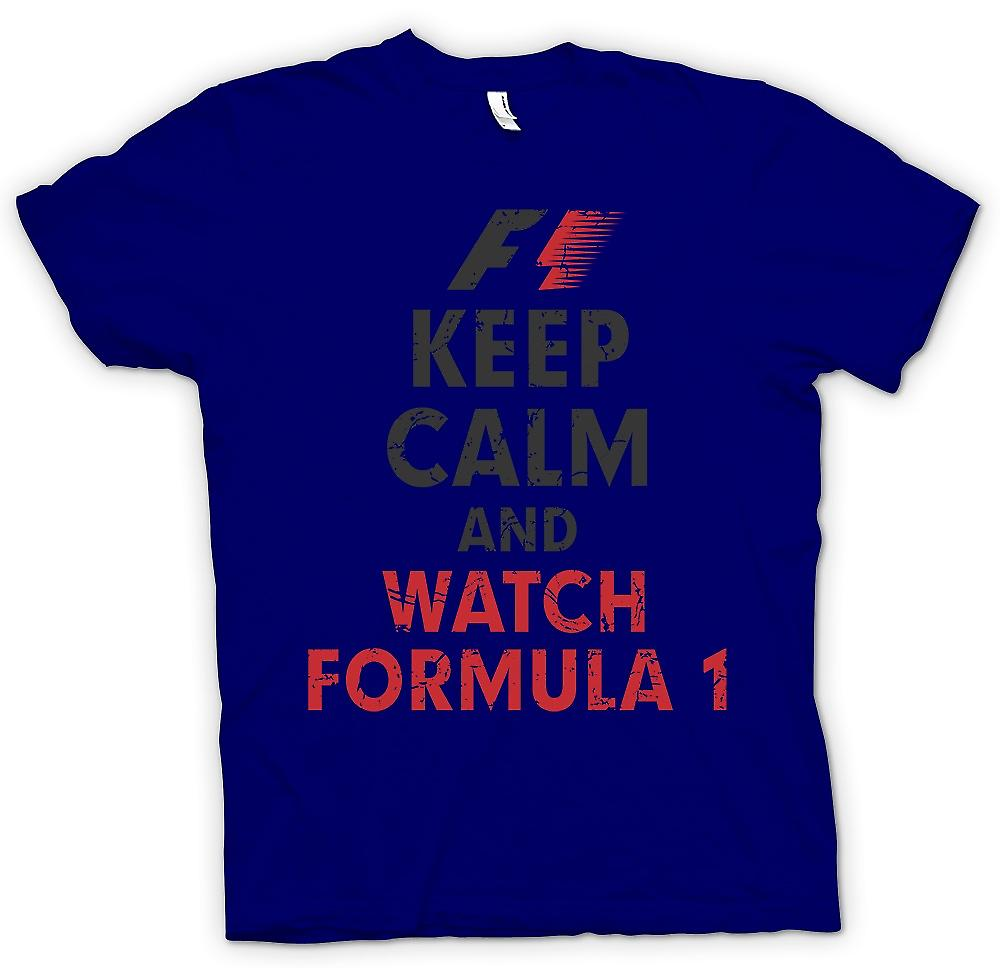 Mens T-shirt - F1 - Keep Calm And Watch Formula 1