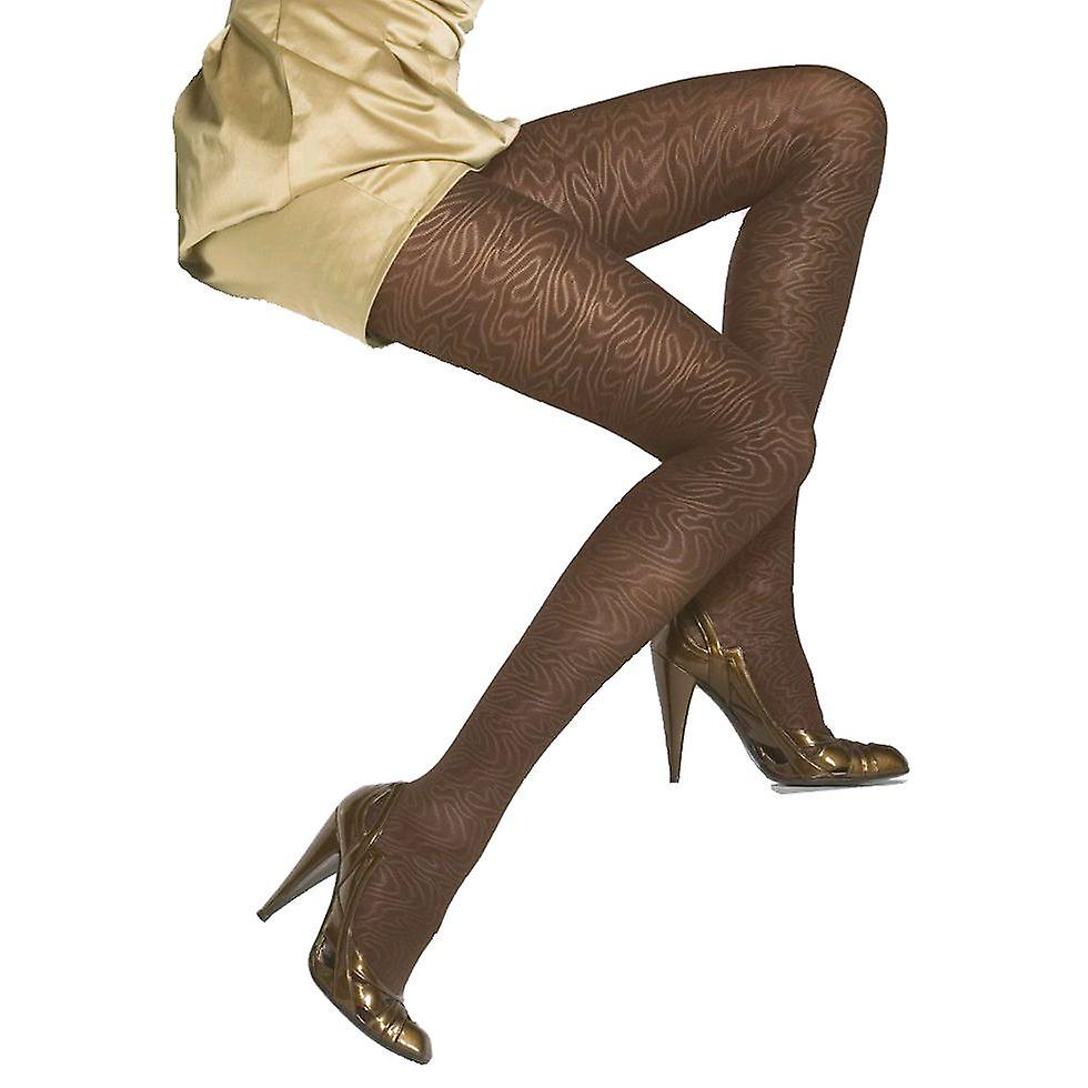 Solidea Imbrulia Patterned Support Tights [Style 43170] Ottanio (Blue Grey)  M