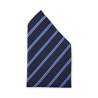 Handkerchief dark blue light blue striped wedding Fabio Farini stripe blue