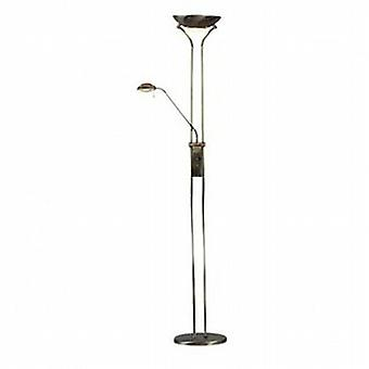 4329AB Ant Brass Mother & Child Floor Lamp