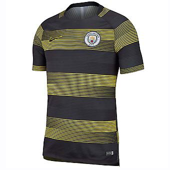 2018-2019 man City Nike Pre Match Training Shirt (Opti-geel)