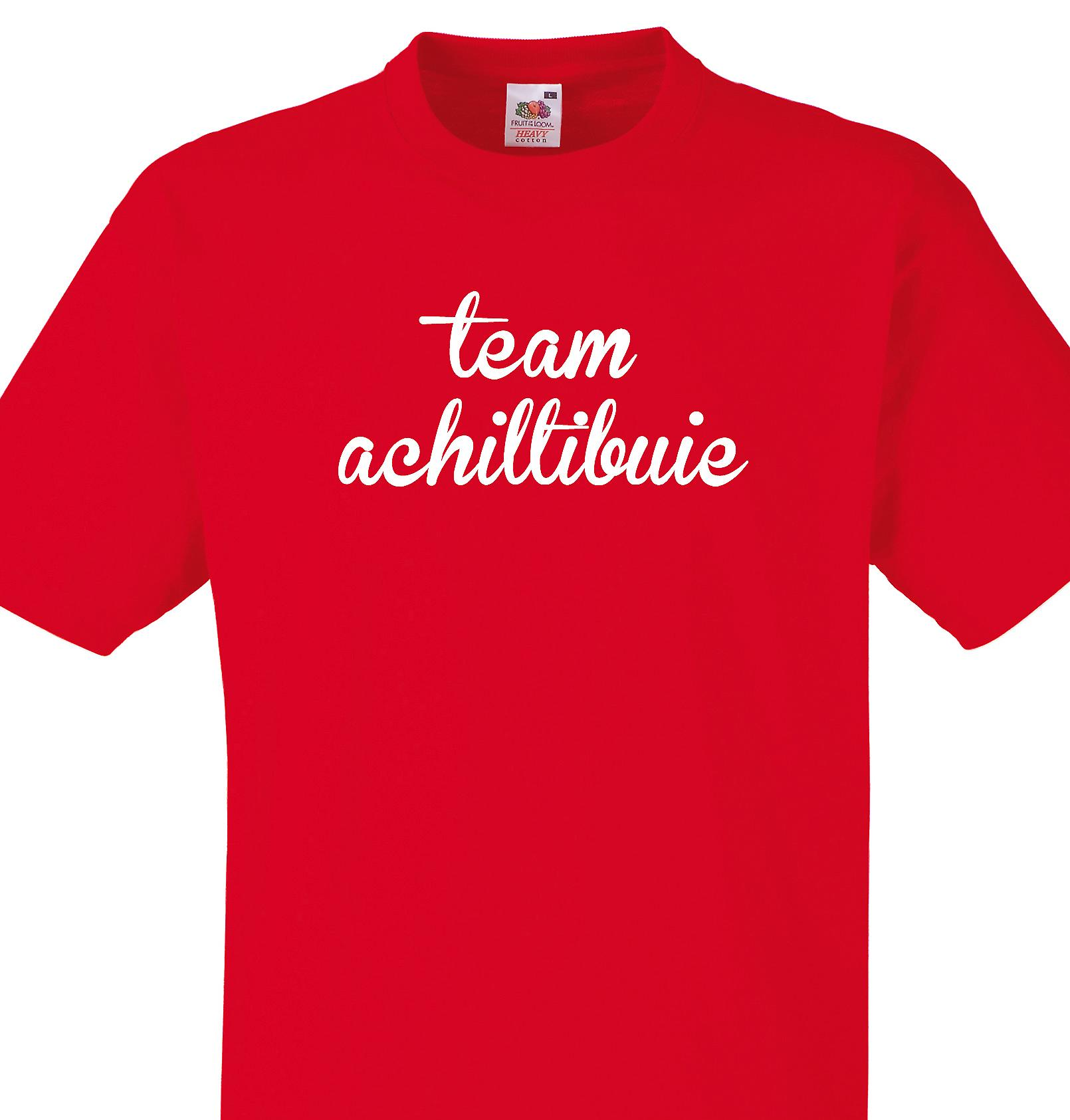 Team Achiltibuie Red T shirt