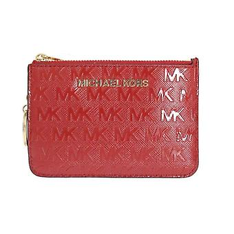 Michael Kors Red Giftables Key Ring Pouch Wallet -- MK10500144