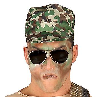 Militaire Camouflage Cap Fancy Dress accessoire