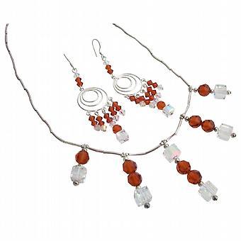 Handgjorda anpassade smycken Swarovski bröllop halsband handgjorda
