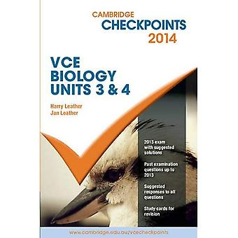 I checkpoint di Cambridge: Cambridge Checkpoint VCE biologia unità 3 e 4 2014