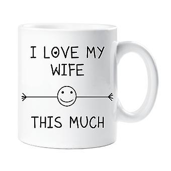 Jag älskar min fru detta mycket mugg