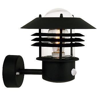 Vejers Up capteur - Black Up face à applique murale extérieure avec détecteur - Nordlux 25101003
