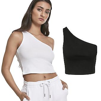 Urban classics ladies - cropped asymmetric stretch top