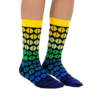 Coffee Beans luxury combed cotton crew socks in black | Made by Ballonet