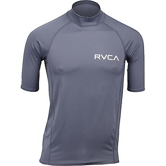 RVCA Mens VA Sport Solid Short Sleeve Compression Shirt - Grayskull Gray