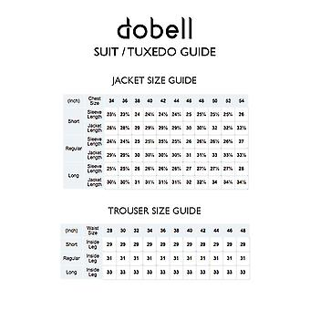 Dobell Mens Navy 2 Piece Tuxedo Regular Fit Peak Lapel Double Breasted Black Trousers