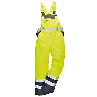 Portwest Unisex Contrast Hi Vis Bib And Brace Coveralls - Unlined (S488) / Workwear (Pack of 2)