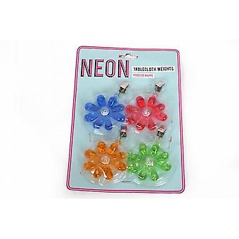 Neon color flor forma tabla tela cortina pesos 12 Pack (NE0056)