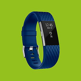 For Fitbit batch 2 plastic / silicone bracelet for women / size S Blue Watch