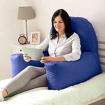 Royal Blue Cotton Twill 'Chloe' Bean Bag Back Rest Reading Cushion