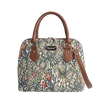 William morris - golden lily top-handle shoulder bag by signare tapestry / conv-glily