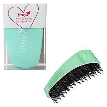 Pretty Knot So Knotty Detangle Brush ~ Pastel Green