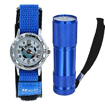 Ravel Football Watch and Micro Torch Boys Gift Set R4402a
