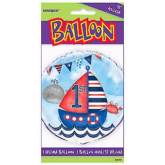 Unique Party 18 Inch Nautical 1st Birthday Foil Balloon