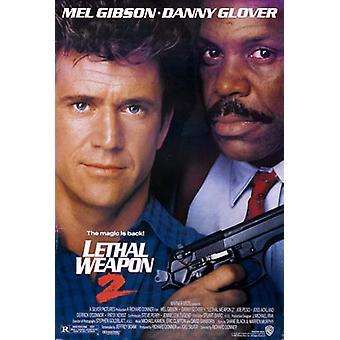 Tödliche Waffe 2 (doppelseitig regelmäßig) Original Kino Poster
