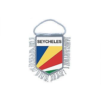 Fanion Mini Drapeau Pays Voiture Decoration Seychelles