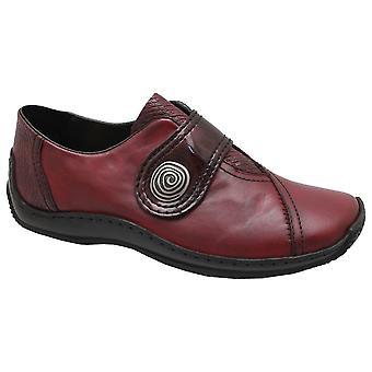 Rieker Bordeaux Strap Over High Front Shoes