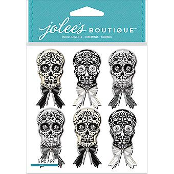 Jolee's Mini Repeats Stickers-Black & White Skulls E5021776