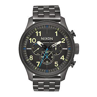 Nixon The Safari Dual Time All Gunmetal / Lum (A1081-1418)